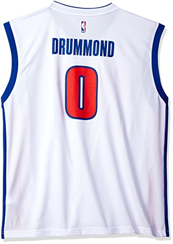 NBA Men's Detroit Pistons Andre Drummond Replica Player Home Jersey, Large, White