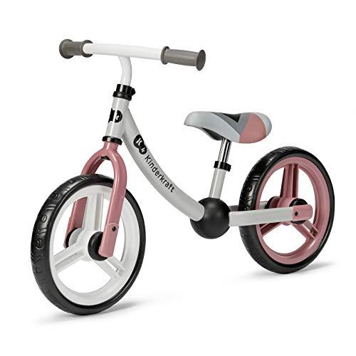 kk Kinderkraft Kinderkraft Laufrad 2WAY NEXT, Lernlaufrad, Kinderlaufrad, Höhenverstellbarer Sattel und Lenker, 12 Zoll Räder, Metall, ab 2 Jahre, Modernes Design, Rosa