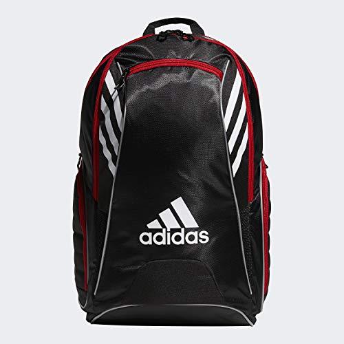 adidas Mochila unissex para raquete de tênis Tour, preto/branco/carlete, tamanho único