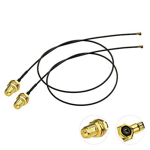 Bingfu WLAN Kabel, 25cm U.FL IPX IPEX MHF4 auf RP-SMA Buchse Schottmontage WiFi-Antennenkabel 2-Pack Verlängerungskabel Kompatibel mit Intel Schnittstelle Drahtlose Netzwerkkarte WiFi-Adapter