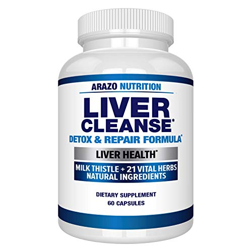 commercial Liver Cleansing and Activation Formula – 22 Herbal Supplements: Ozami Extract… arazo nutrition