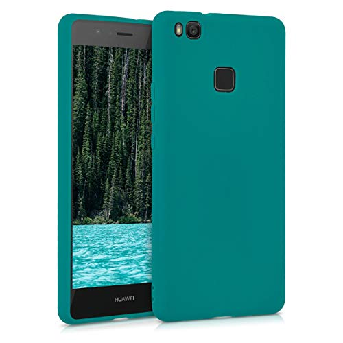kwmobile Custodia Compatibile con Huawei P9 Lite - Cover in Silicone TPU - Back Case per Smartphone - Protezione Gommata Petrolio Matt