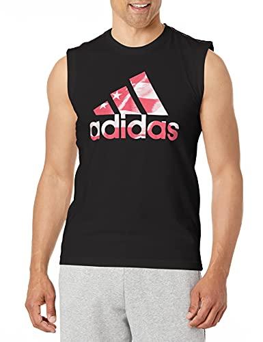 adidas Americana Cotton Graphic Tank Camiseta de Tirantes Anchos, Negro, XXL para Hombre