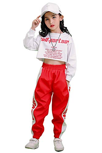 3 Piezas Conjunto de Disfraces de Hip Hop para niñas