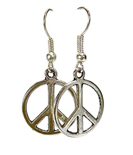 Geralin Gioielli Damen Silber Peace Ohrringe Ohrhänger Vintage