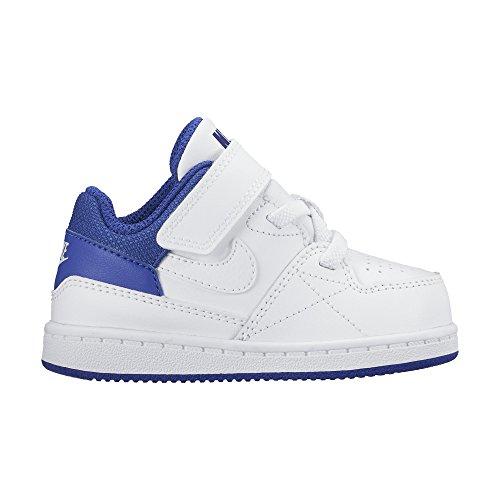 Nike Baby Jungen Priority Low TD Sneaker, Weiß/Schwarz (Weiß/Weiß-Deep Night), 19 1/2 EU