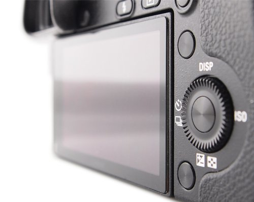 DolDer LCD Protector de pantalla Vidrio para Sony Alpha 7II(la cuarta generación) - Protector de cristal auténtico para Sony Alpha 7II- Principio de 6 capas más marco de protección