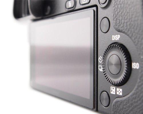 DolDer Sony Alpha A7II/A7RII/A7S II/A77II/A7III/A7RIII/A7SIII /7 M3LCD Bildschirmschutz Glas - LCD-Echtglas-Protektor für A7II/A7RII/A7SII/A77II/A99II/A7III/A7RIII/A7SIII - 6 Schicht-Prinzip plus Schutzrahmen (made by Larmor)