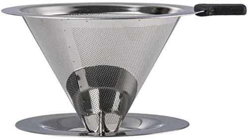 DFGER Macetas de café V60 para verter sobre vidrio, cafetera, filtro de vidrio, café, caldo, servidor, jarra de goteo a mano, hervidor de agua barista, percolador de 300 ml (color de acero inoxidable)