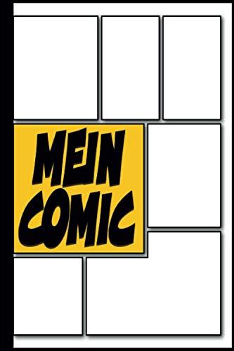 Mein Comic Vorlagen für Erwachsene, Teenager, Kinder 10 Jahre: Blanko Comic A5, Buch, Heft, Kreiere Deinen Eigenen Comic Selber Zeichnen Comics für Jugendliche (Artist Geshenk)