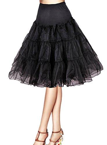 Flora 50s Vintage Rockabilly Petticoat Skirt, 25