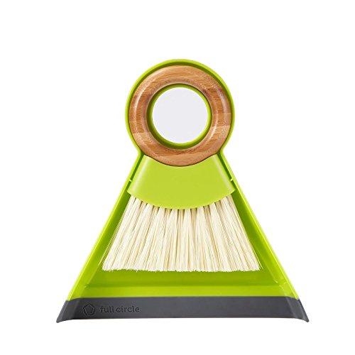 Full Circle Juego de Cepillo y recogedor, Verde, Mini, 1, 1