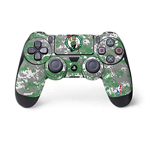 Skinit Decal Gaming Skin for PS4 Controller - Officially Licensed NBA Boston Celtics Digi Camo Design