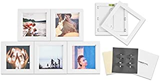MAGNAFRAME Magnetic Picture Frame Gallery for Instagram Size Prints 4x4-6 Pack (White)