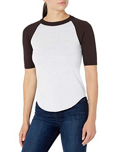 Augusta Sportswear Damen Boys Baseball Jersey 2.0 M White/Black Hemd, weiß/schwarz, Mittel
