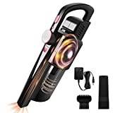 Handheld Vacuum Cleaner, VACPOWER Cordless Handheld Vacuum Powered by Li-ion Battery Rechargeable, Mini & Portable Vacuum Cleaner for Home & Car