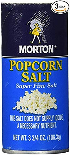 Great Features Of Popcorn Super Fine Salt 3.75-oz 3 Pack (Extra)