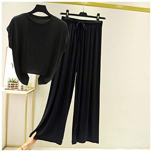 CCFF Women Pajamas,Comfortable and casual ladies' pajamas can be worn outside-black_MLadies Pyjamas Long Sleeve