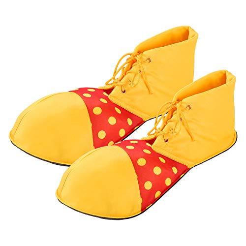 FENICAL Zapatos de payaso grandes Zapatos de disfraz de payaso de Halloween amarillos para mujeres (talla única)