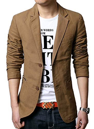 Piero Lusso Fashion Men's Casual Suit Blazer Jackets Sports Coats Dress Suit