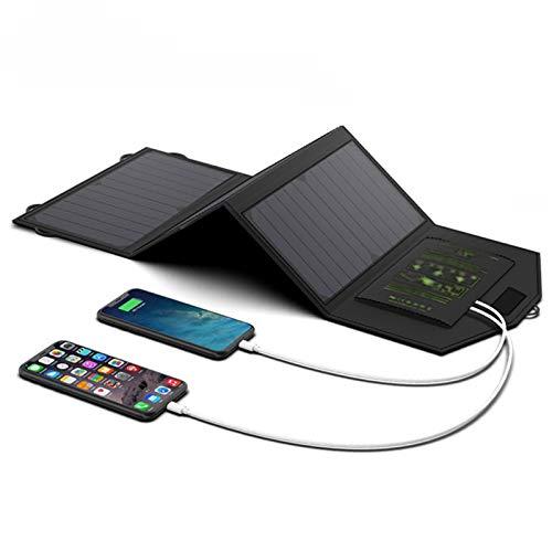 AWYLL Cargador Solar de Carga rápida al Aire Libre, se han Incorporado 2 Puertos de Salida USB para iPhone 11 / XS/XS MAX/XR/X / 8/7, iPad, Samsung Galaxy LG, etc.