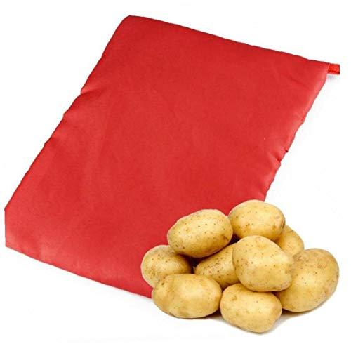 1PCS Nuovo Red Lavabile Fornello Borsa Patate al Forno a microonde Cottura di Patate rapidi Cuochi Veloce 4 Patate At Once