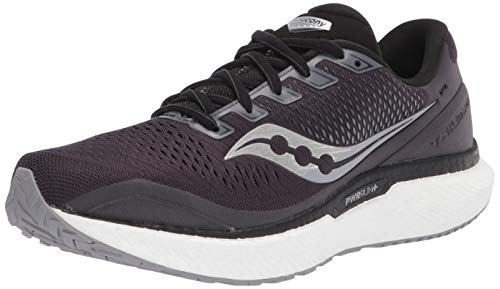 Saucony Men's S20595-40 Triumph 18 Running Shoe, Charcoal/White - 10 M US