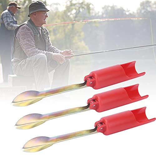 Changor Pesado-Deber Pescar Vara Poseedor, Rojo Inoxidable Acero Pescar Metal y El plastico Hecho