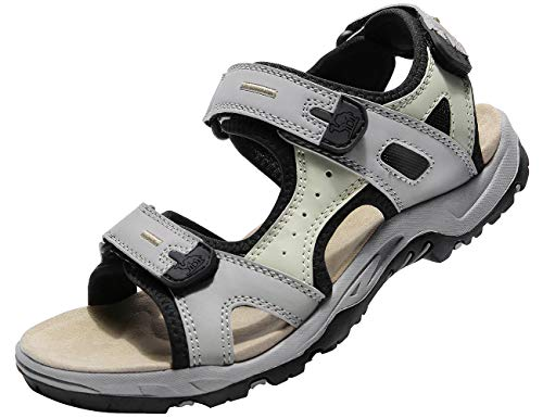 CAMEL CROWN Comfortable Hiking Sandals for Women Waterproof Sport Sandals for Walking Beach Water with Arch Support Grey