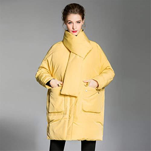 ELEGENCE-Z donsjas voor dames, eenvoudige slim fit, korte hiel, opstaande kraag, koude bescherming, wit eendendonsjack