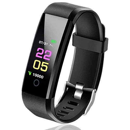KOLP Fitness Tracker, Smartwatch Wasserdicht IP67 Fitness Armband, 0,96 Zoll Aktivitätstracker mit Pulsmesser, Blutdruck Messgeräte Pulsuhr Schrittzähler Uhr für Damen Herren