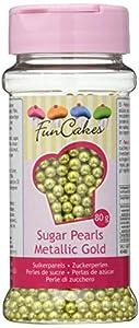 FunCakes, Perlas de Azúcar - Oro metálico - 80 gr.