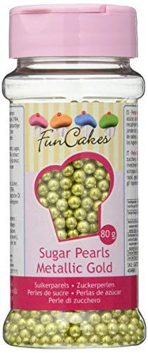 FunCakes- Perlas de Azúcar, 80 g