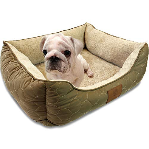 American Kennel Club Orthopedic Circle Stitch Cuddler Pet Bed, Taupe