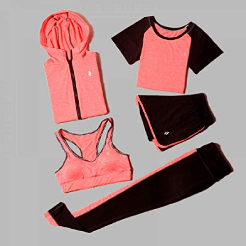 5 Piece Set Yoga For Women Wear Bra Performance Fitness Sports Women's T-Shirt For Fitness Clothing Training Set Sport Suit