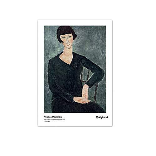 Amedeo Modigliani Figura Resumen Vintage Ative atWooden Puzzle 1000 Piezas 75x50cm Rompecabezas...
