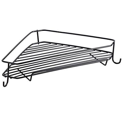 ZYING Baño Cocina trípode, Soporte de Estante de la Pared baño, Cuarto de baño y Accesorios de Almacenamiento en Rack de Cocina (Color : Black)