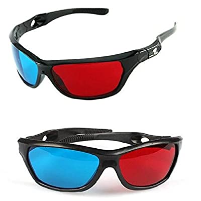 La Tartelette Red/Cyan Anaglyph Simple Style 3d Glasses 3d Movie Game-extra Upgrade Style (2 Pairs)