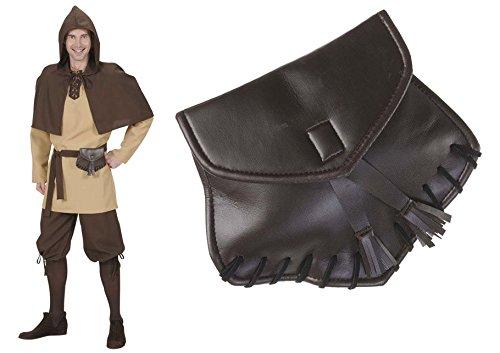 Gürtel Tasche braun Bauchtasche Ledertasche Gürteltasche Mittelalter Kostüm Larp Rollenspiel