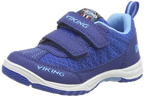 viking BRYNE, Chaussures de Cross Mixte Enfant, Bleu (Dark Blue/Blue 7635), 20 EU