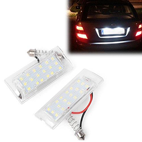 GZYF 2x Luz de matrícula del coche 18 Luz de matrícula LED Luz de matrícula sin errores Para X5 E53 1999-2006,X3 E83 2003-2009