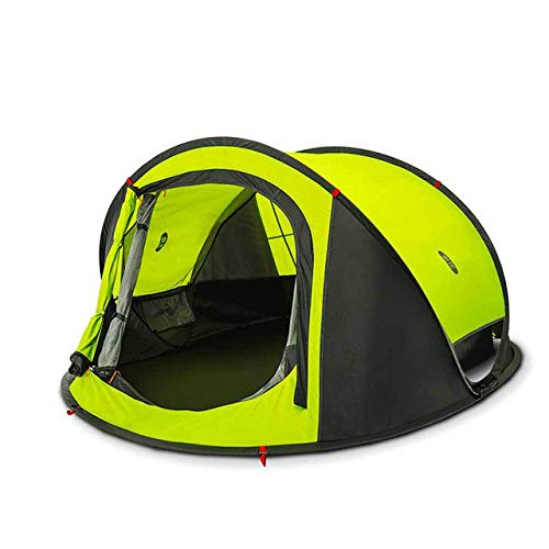 Mdsfe XIAOMI tourist tent naturehike camping tent camping equipment outdoor camping fishing tent hike gazebo 3-4person automatic tent-green