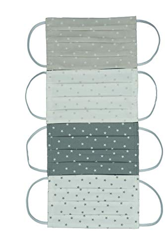 Superleichter waschbarer Baumwoll Mundschutz Nasen-Mundbedeckung verschiedene Farben ideal für den Sommer von Lilli Löwenherz