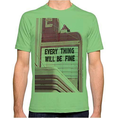 ZSHOOCL Herren Every Thing Will be fine Männer T Shirt XXXL Grass