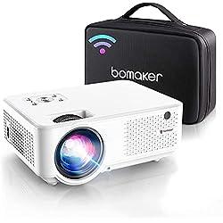 BOMAKER Proiettore WiFi Full HD, Supporto Nativo 1080P Full HD, Videoproiettore 7000 Lm Wireless, Nativo 800P, 300´´ Compatibile Android/Win10/Laptop/HDMI/Fire TV Stick/Chromcast, C9