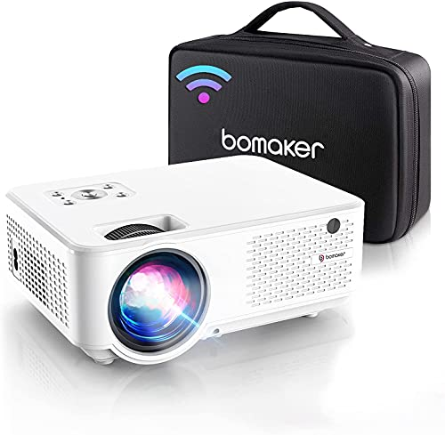 BOMAKER Proiettore WiFi Full HD, Supporto Nativo 1080P Full HD, Videoproiettore 7000 Lm Wireless, Nativo 800P, 300  Compatibile Android Win10 Laptop HDMI Fire TV Stick Chromcast, C9