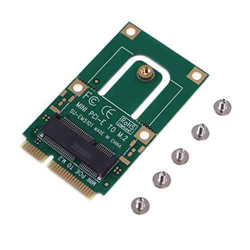Sara-u Mini PCI-E a M2 Adaptador Convertidor Tarjeta de expansión M2 Key E Interface para M2 Wireless Bluetooth WiFi Módulo para portátil y PC Splitter Cable Adaptador Lector de tarjetas Convertidor