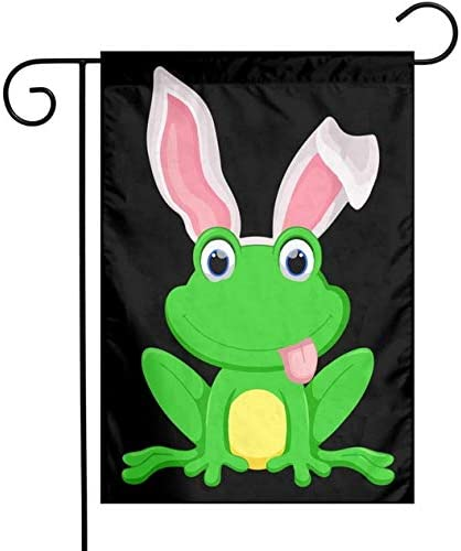 Yisong Frog Bunny Happy Easter Day Garden Flag Decorations Outdoor Vertical Double Sided Flag 12 X 18 Home Kitchen