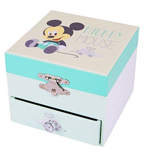 Trousselier Caja de música 20200 - Disney Motivo de la Caja de música Mickey Serie de Cubos, Caja de música, Cajas de música
