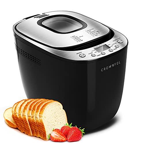 CROWNFUL Automatic Bread Machine, 2LB Programmable...